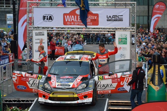 Wales Rally GB 2012 Podium